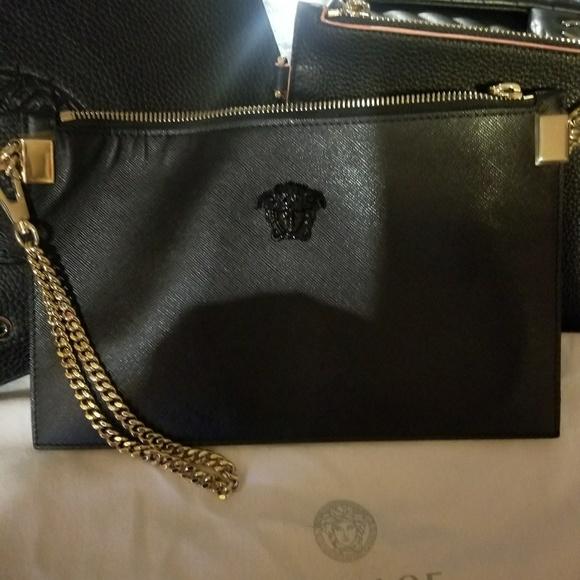 Versace Bags   Medusa Head Palazzo Leather Pouch   Poshmark e155da57ff